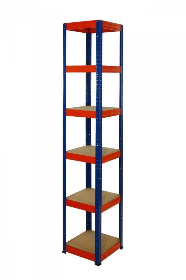 Metallregal Werkstatt Schwerlastregal Helios 196x035x35_6 Böden, Tragkraft bis 175 Kg pro Boden,  Viele Farben zur Auswahl, Quadratisch