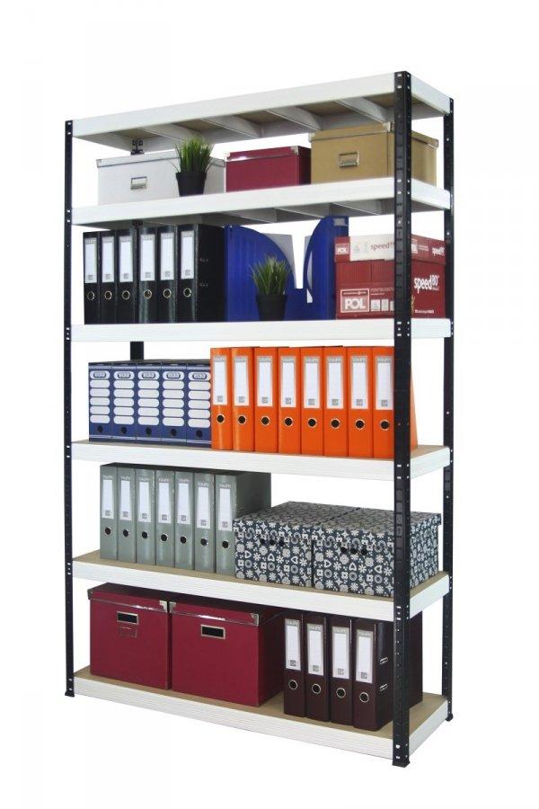 Metallregal Werkstatt Schwerlastregal Helios 196x110x50_6 Böden, Tragkraft bis 400 Kg pro Boden,  Viele Farben zur Auswahl