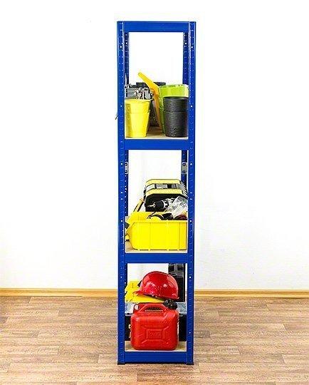 Metallregal Werkstatt Schwerlastregal Helios 180x120x50_4 Böden, Tragkraft bis 400 Kg pro Boden,  Viele Farben zur Auswahl