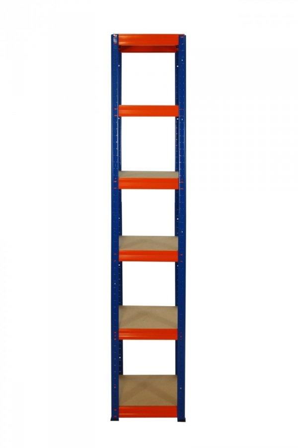 Metallregal Werkstatt Schwerlastregal Helios 213x050x50_6 Böden, Tragkraft bis 175 Kg pro Boden,  Viele Farben zur Auswahl, Quadratisch