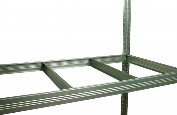 Metallregal Steck-Lager- Schwerlastregal bis 400 kg pro Boden , verzinkt , HZ_180x120x45, 5 Böden
