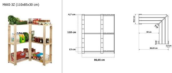 Zusatzboden der Serie MAXI, RMPN-300 (82,5x26,5x2,8), durchbrochener Boden