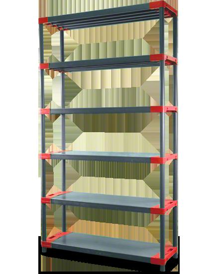 Plastikregal Kunststoffregal Steckregal  Tytan-5-70 (180x70x46), 5 Böden, 3 Farben