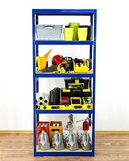 Metallregal Werkstatt Schwerlastregal Helios 213x120x40_5 Böden, Tragkraft bis 400 Kg pro Boden,  Viele Farben zur Auswahl
