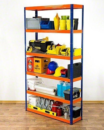 Metallregal Werkstatt Schwerlastregal Helios 213x120x40_6 Böden, Tragkraft bis 400 Kg pro Boden,  Viele Farben zur Auswahl