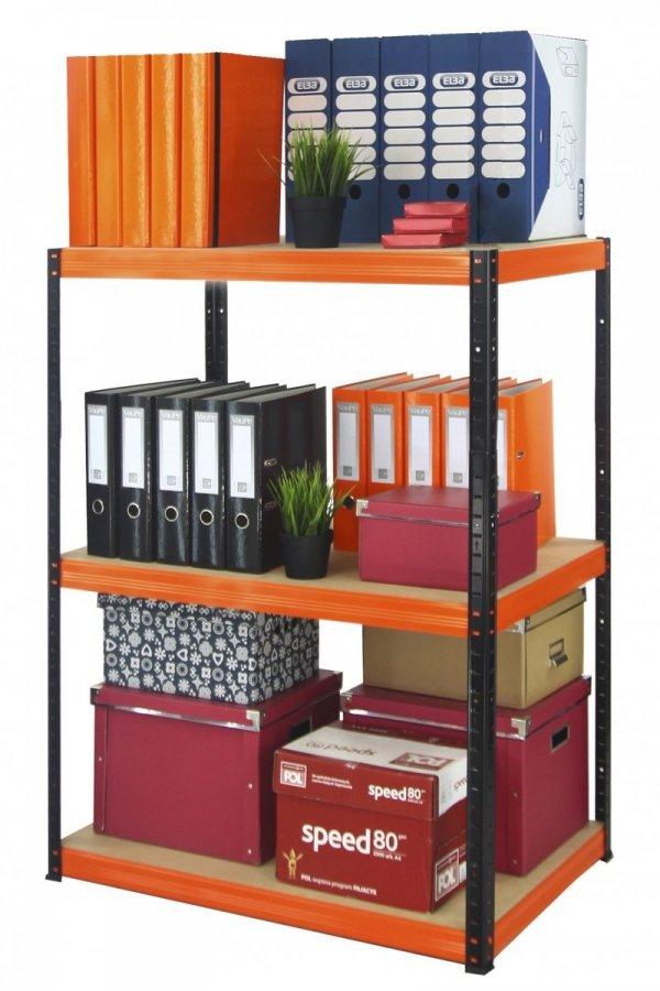 Metallregal Werkstatt Schwerlastregal Helios 090x090x30_3 Böden, Tragkraft bis 400 Kg pro Boden,  Viele Farben zur Auswahl