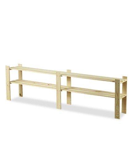 Holzregal 2 Böden 50x170x28 cm, B-04, Unbehandelt