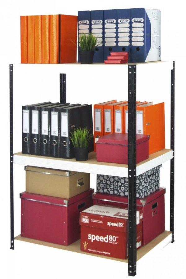 Metallregal Werkstatt Schwerlastregal Helios 090x120x40_3 Böden, Tragkraft bis 400 Kg pro Boden,  Viele Farben zur Auswahl