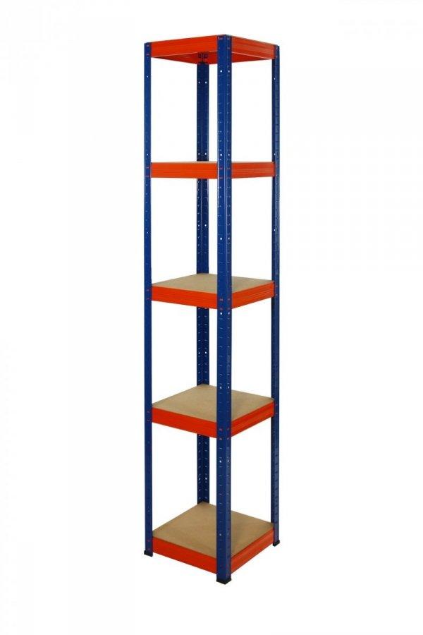 Metallregal Werkstatt Schwerlastregal Helios 213x035x35, 5 Böden, Tragkraft bis 175 Kg pro Boden,  Viele Farben zur Auswahl, Quadratisch