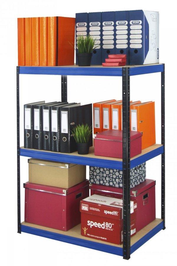 Metallregal Werkstatt Schwerlastregal Helios 090x100x50_3 Böden, Tragkraft bis 400 Kg pro Boden,  Viele Farben zur Auswahl