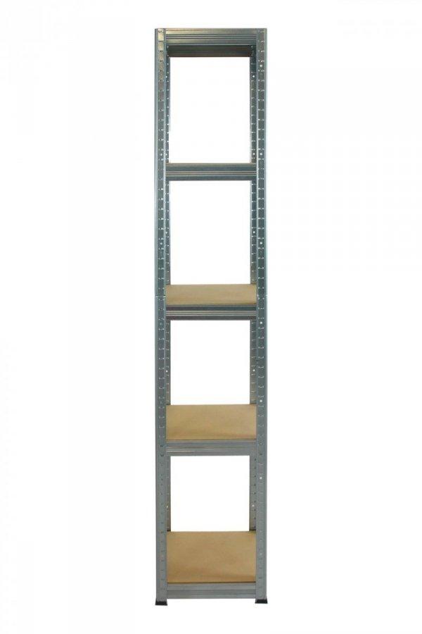 Metallregal Steck-Lager- Schwerlastregal bis 175 kg pro Boden , verzinkt , HZ_196x050x50, 5 Böden, Quadratisch