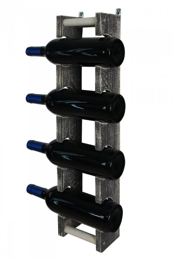 Hängeregal Weinregal Vintage RW-18_1x4 (13,5x9x61,5), Braun oder Grau