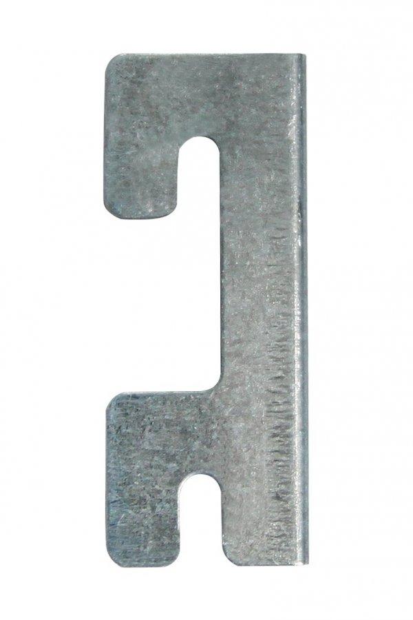 Verbinder Set (4 Stück) für Metallregal Serie Helios, verzinkt, H_Z_CON