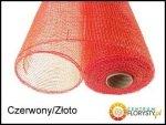 Siatka Plastikowa 50cm/9m Czerwony Złoto