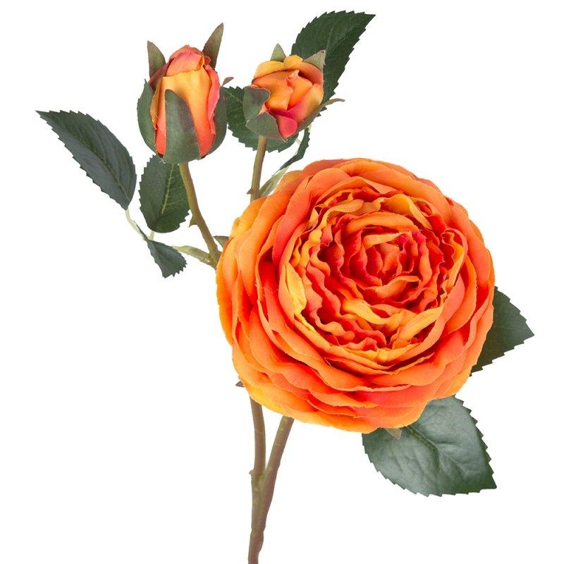 Gałązka Róża Wysoka Pomarańczowa 58cm