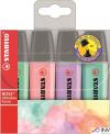 Zakreślacz STABILO BOSS kolory pastelowe komplet 4szt. 70/4-2
