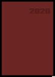 Kalendarz 2020 TOP 2000 Basic A5 dzień na stronie, bordowy 400126194