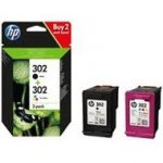 Tusz HP 2-Pack 302 | 1 x 3,5ml + 1 x 4ml | black + tri-color