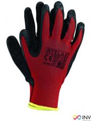 Rękawice powlekane czerwono-czarne rozmiar 10 RTELA