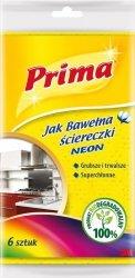 Ściereczki PRIMA Neon, 6szt., mix kolorów
