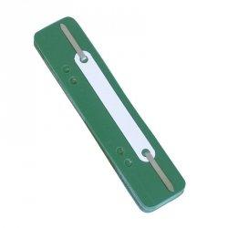 Wąsy skoroszytowe DONAU, PP, z metalową blaszką, 25szt., zielone