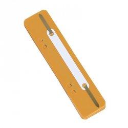 Wąsy skoroszytowe DONAU, PP, z metalową blaszką, 25szt., pomarańczowe