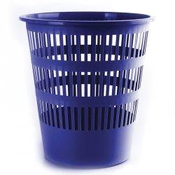 Kosz na śmieci DONAU, ażurowy, 16l, niebieski