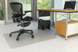 Mata pod krzesło Q-CONNECT, na podłogi twarde, 134x115cm, kształt T