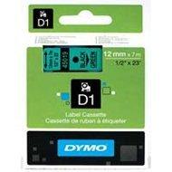 Dymo taśma do drukarek etykiet, D1 45019 | 12mm x 7m | czarny / zielony