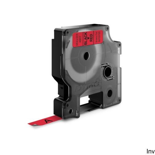Taśma DYMO D1 - 9 mm x 7 m, czarny / czerwony S0720720 do drukarek etykiet