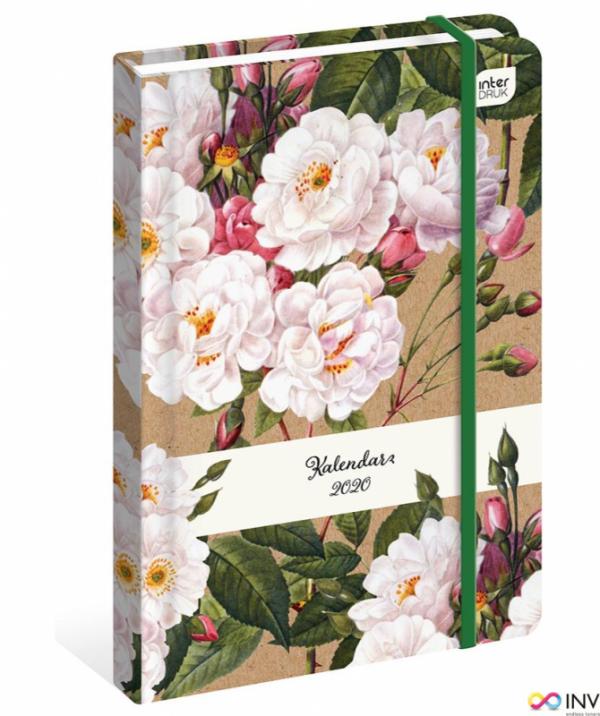 Kalendarz książkowy B6 192str. kwiaty  INTERDRUK