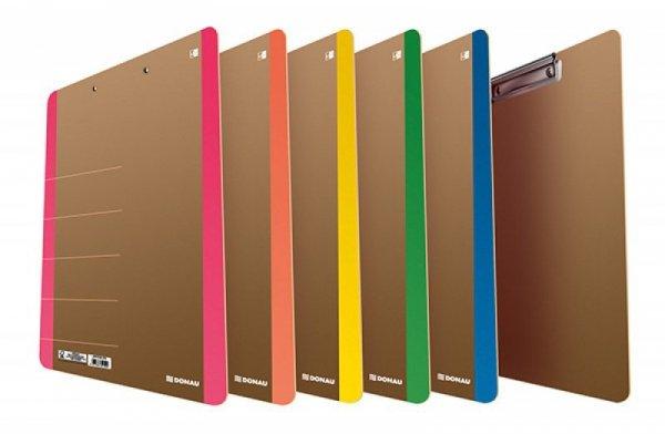 Clipboard DONAU Life, karton, A4, z klipsem, pomarańczowy