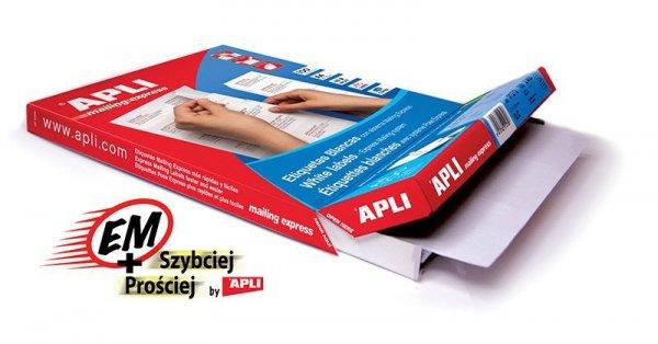 Etykiety uniwersalne APLI, 105x148mm, prostokątne, białe 100 ark.