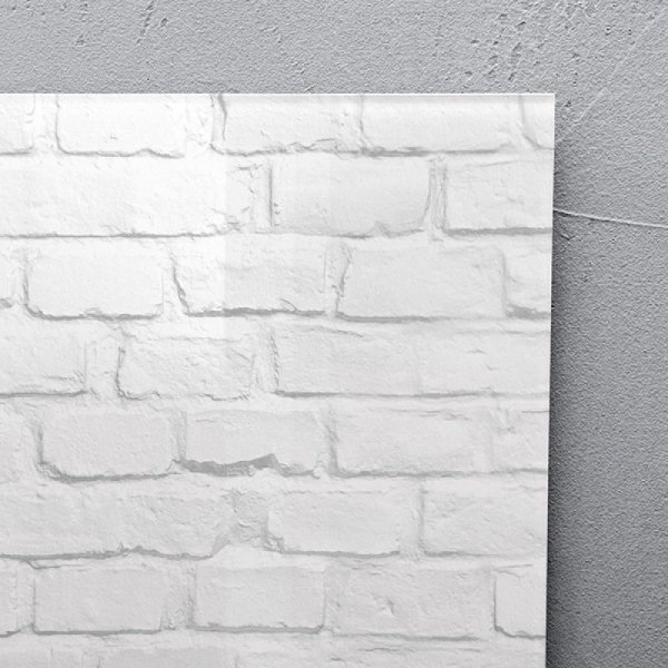 Tablica suchoś. -magn. SIGEL, (480 x 480 x 15mm), szklana, motyw klinkier, biała