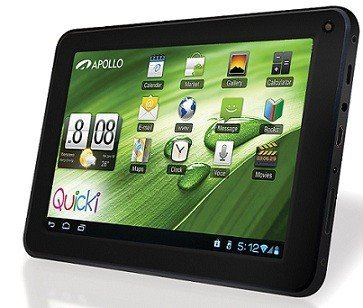 Apollo TABLET QUICKI 727 BLACK 7 ANDROID 4.0 EBOOK WI-FI