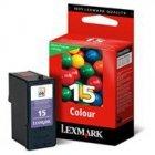 Tusz Lexmark 15 do X2650, Z2320 | zwrotny | CMY