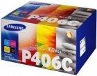 Komplet CLT-P406C oryginalnych tonerów Samsung do CLP-360 / CLP-365 / CLX-3300 / CLX-3305 / C410W/ C460W/ C460FW