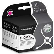 Tusz Asarto do Lexmark 100   14 ml   Pro205 / Pro905   magenta