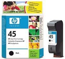 Tusz HP No 45 czarny 51645AE poj. 42ml do DeskJet 870C / DeskJet  1220C / OfficeJet G95