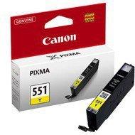 Tusz Canon CLI551Y do iP-7250, MG-5450/6350   7ml   yellow
