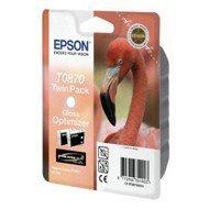 Zestaw tuszy Epson T0870 do Stylus Photo R1900 | 2 x 11,4ml | black