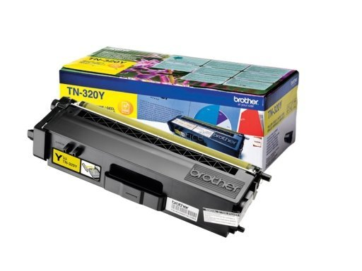 Toner oryginalny Brother TN320Y yellow do HL-4140CN / HL-4150CDN / HL-4570CDW / DCP-9055CDN / DCP-9270CDN / MFC-9460CDN  na 1,5 tys. str. TN-320Y