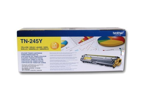 Toner oryginalny Brother TN245Y yellow do  HL-3140CW / HL-3150 / HL-3170 / DCP-9020 / MFC-9140CDN na 2,2 tys. str. TN-245Y