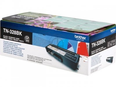 Toner oryginalny Brother TN328BK black do HL-4570CDW / DCP-9270CDN / MFC-9970CDW  na 6 tys. str. TN-328BK