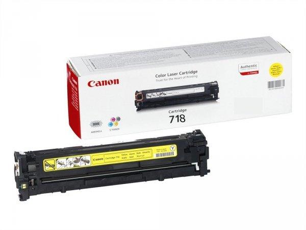 Toner oryginalny Canon 718 yellow do  do Canon do I-Sensys LBP-7200Cdn / LBP-7680Cxna / LBP-7660Cdn / MF-8350Cdn / MF-8330Cdn / MF-8380Cdw na 2,9 tys. CRG718Y