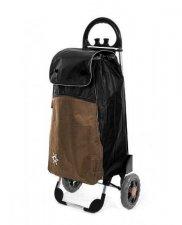 Wózek na zakupy Bolzano czarno-brązowy, firmy Aurora