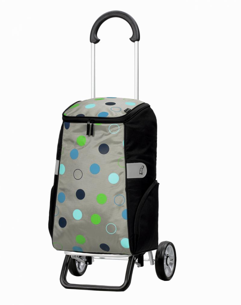 Wózek na zakupy Scala Plus Sila srebrny, firmy Andersen