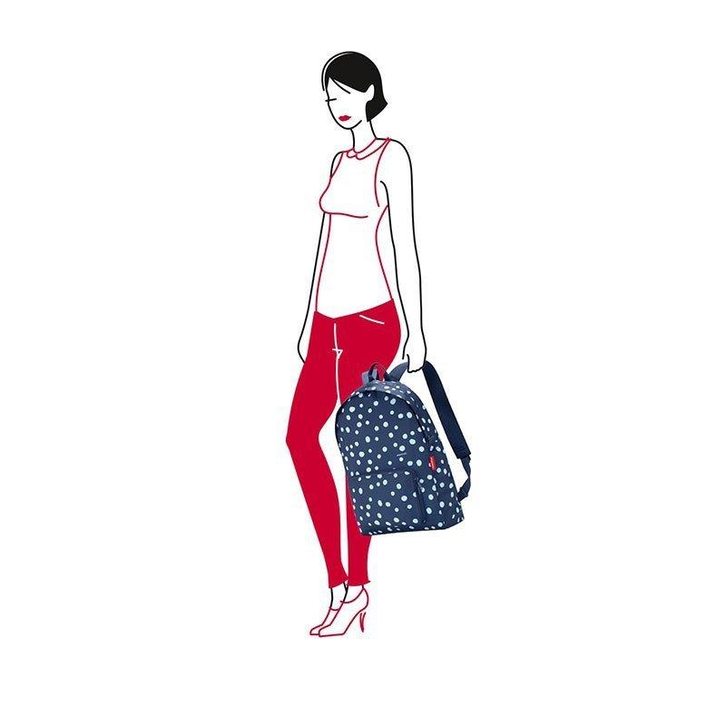 Składany plecak Mini Maxi Rucksack kolor Spots Navy, firmy Reisenthel