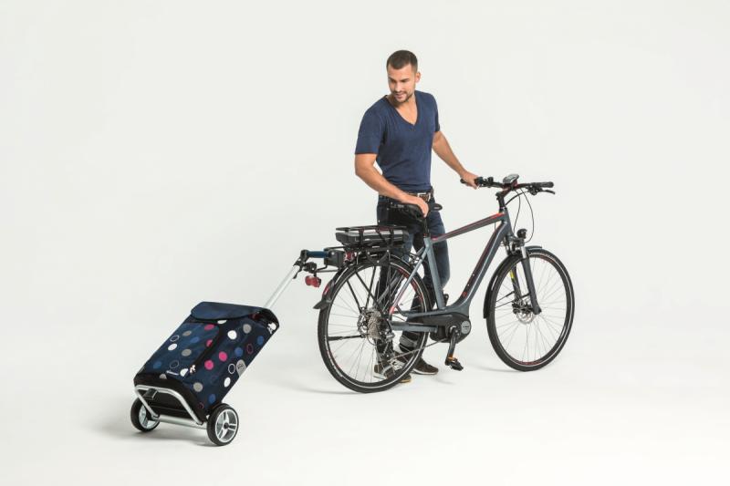 Wózek na zakupy Unus Kira niebieski, firmy Andersen