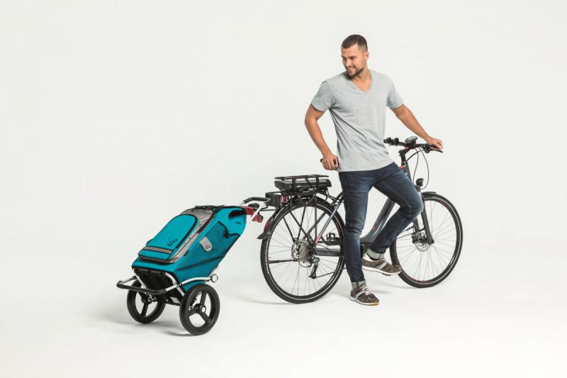 Wózek na zakupy Royal 166 Dots niebieski, firmy Andersen